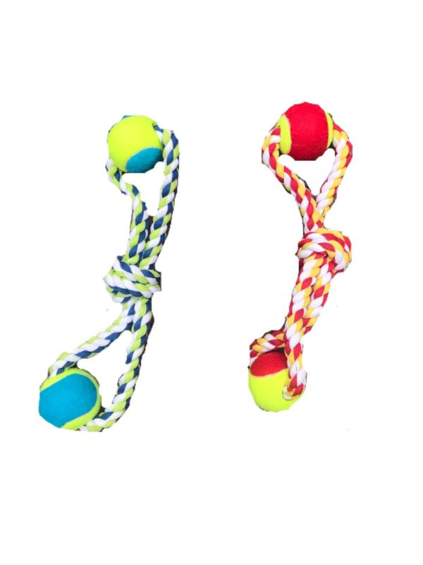 Rope with tennis balls